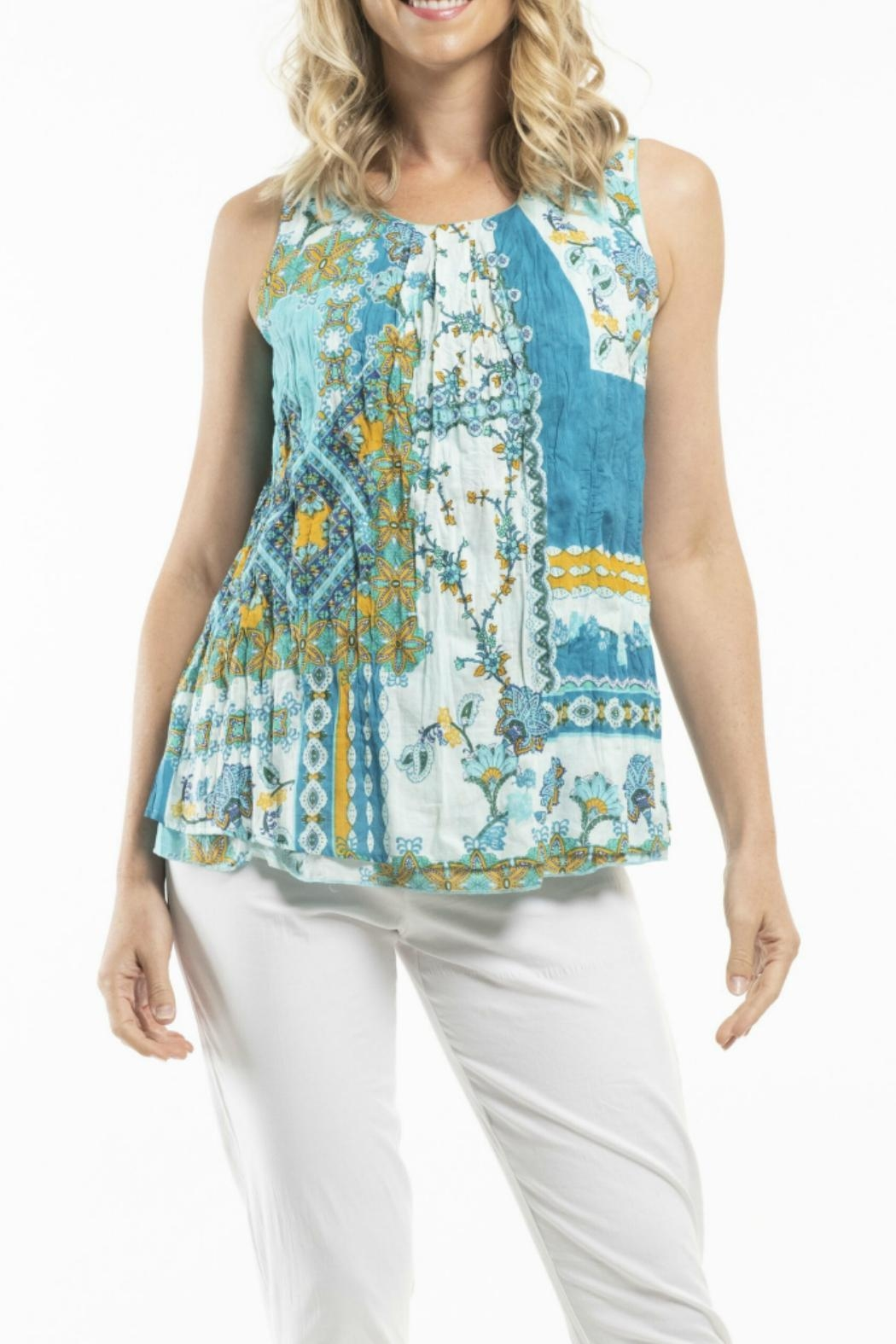 Orientique Reversible Sleeveless Top - Front Cropped Image