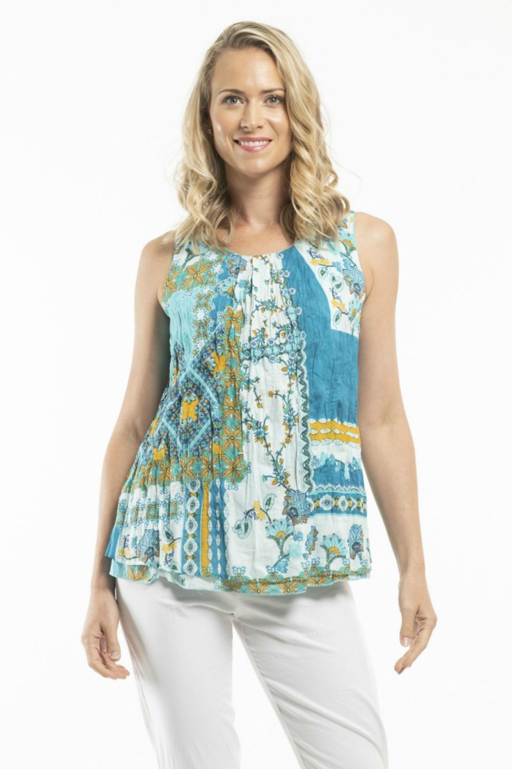 Orientique Reversible Sleeveless Top - Back Cropped Image