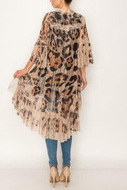 Origami All Lace Leopard Printed Cardigan - Front full body