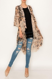 Origami All Lace Leopard Printed Cardigan - Other