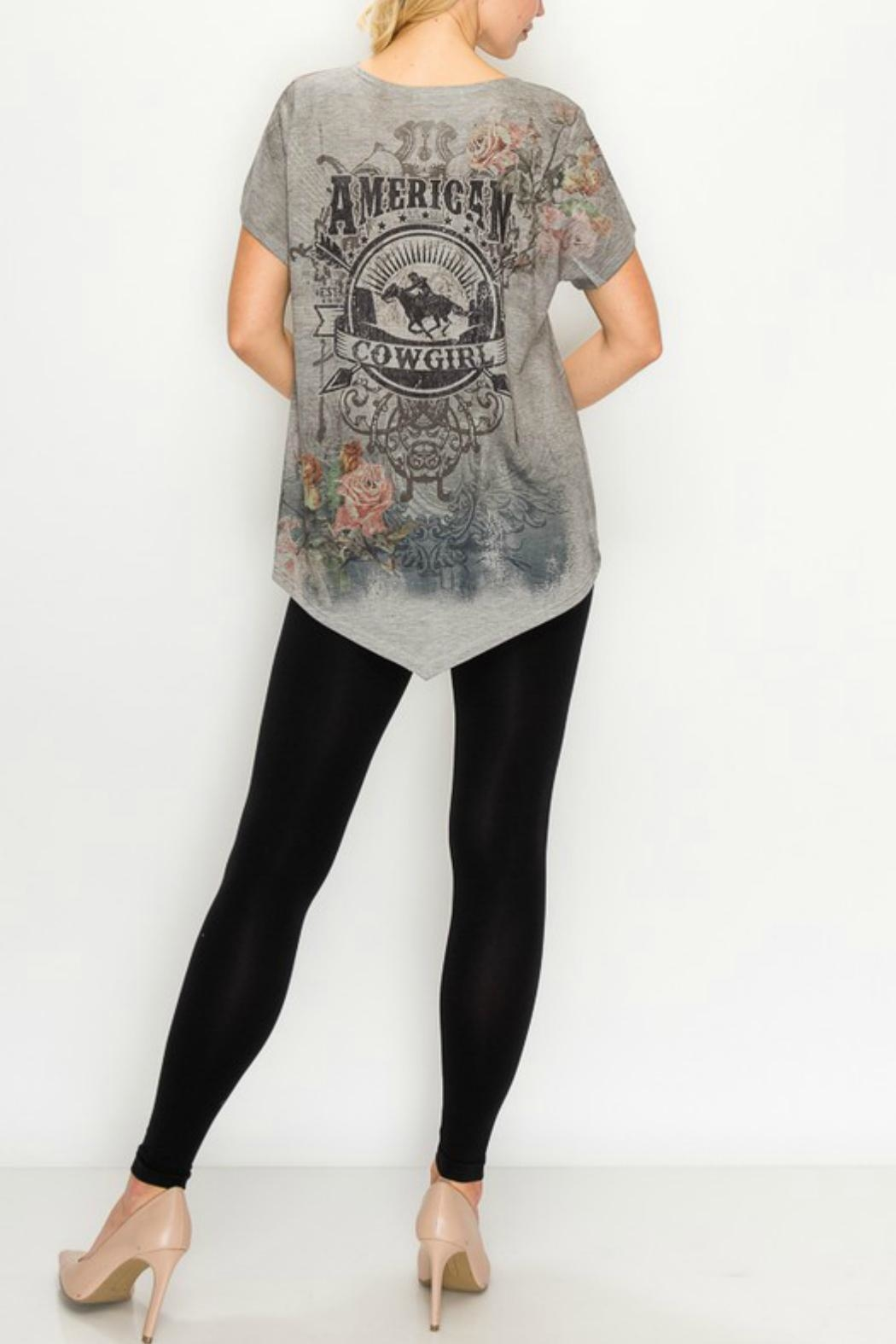 Origami Graphic-Tee - American Cowgirl - Front Full Image