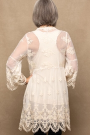 Origami Embroidered Lace Jacket - Front full body
