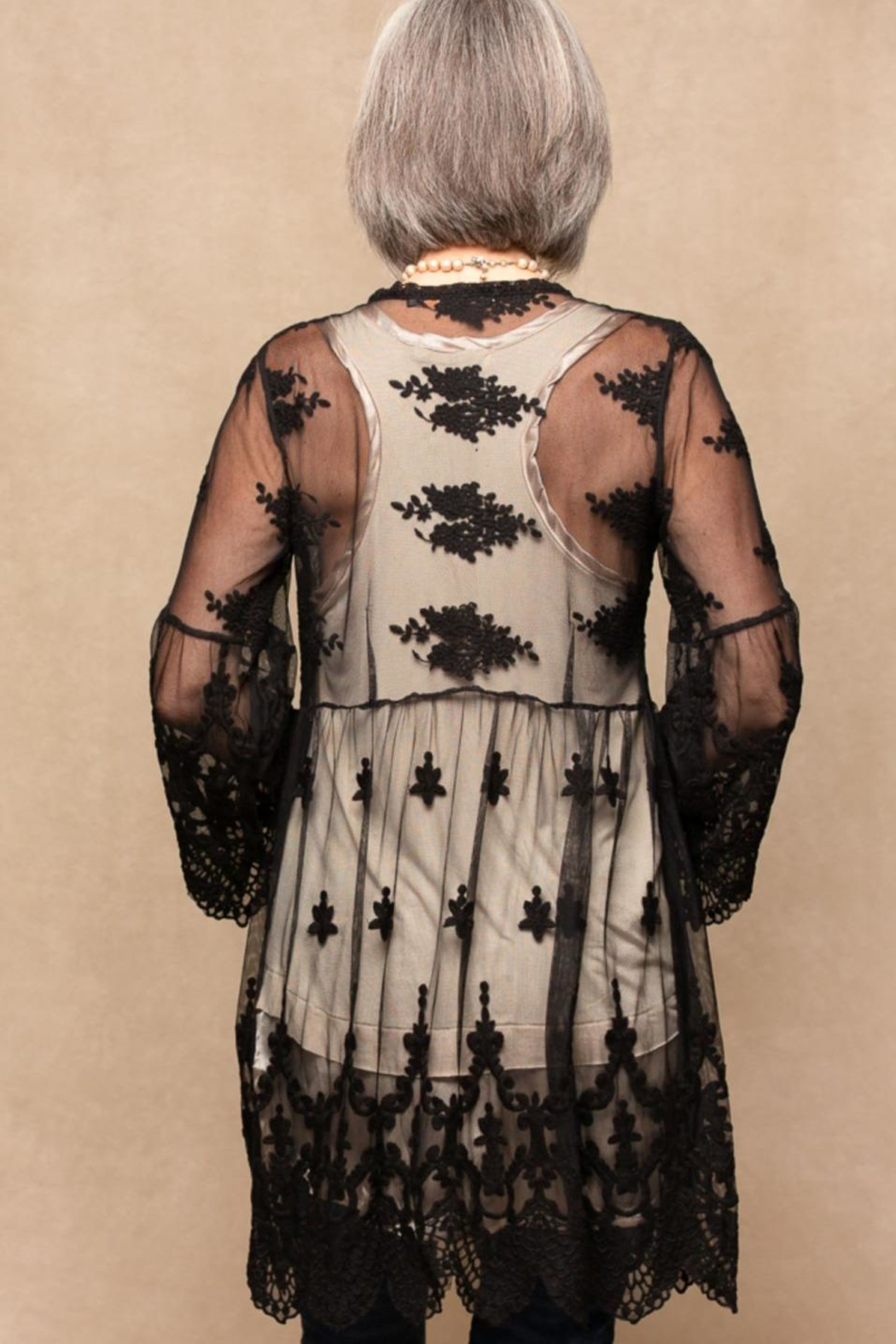 Origami Embroidered Lace Jacket - Front Full Image