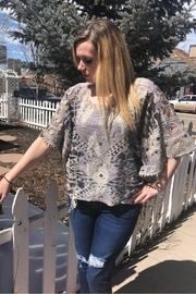 Origami Lace Poncho-Style Top - Product Mini Image