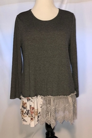 Origami Lace Trim Tunic - Front cropped