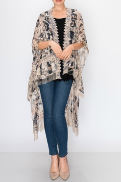 Origami Leopard-Print Lace Duster - Product List Image