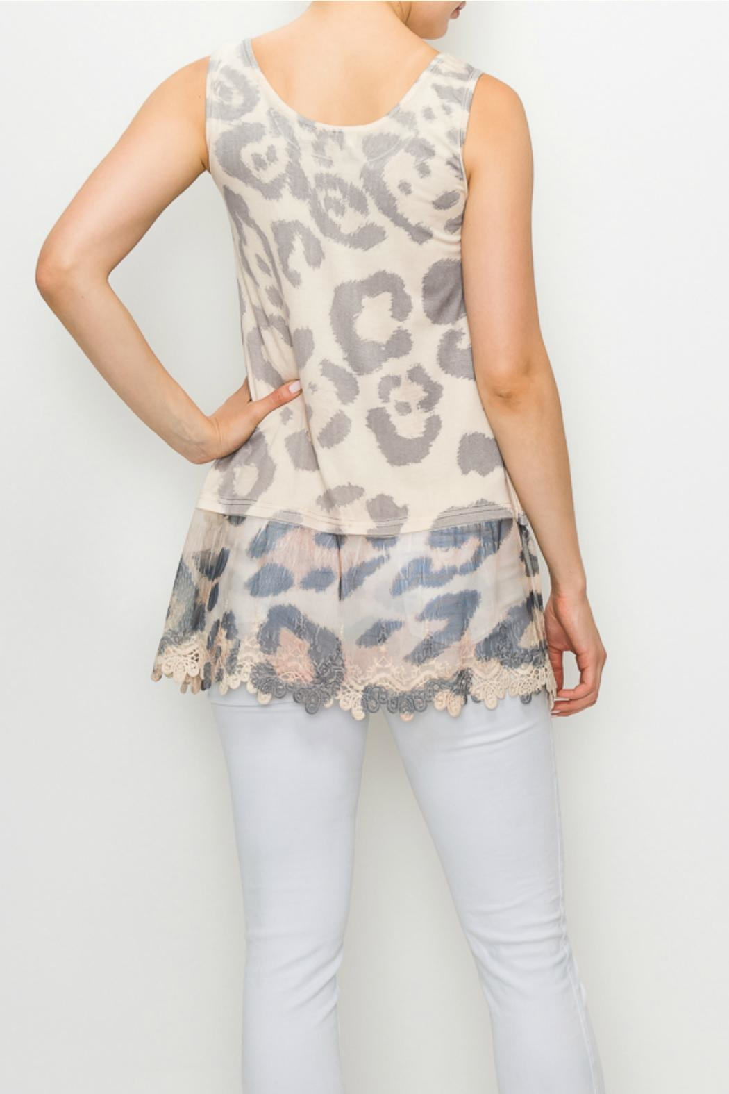 Origami Leopard/print Tunic Tank-Top - Front Full Image
