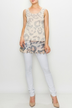 Origami Leopard/print Tunic Tank-Top - Product List Image