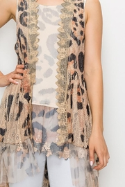 Origami Printed Lace Crochet Vest - Back cropped
