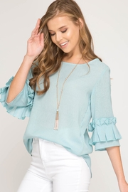 She + Sky Origami Sleeve Top - Product Mini Image