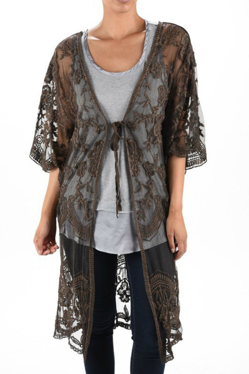 Origami Stone-Washed Lace Duster - Main Image
