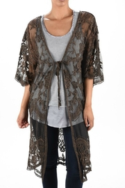 Origami Stone-Washed Lace Duster - Front cropped