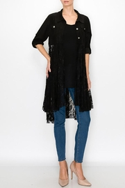 Origami Ultra Suede Jacket With Lace Layer - Product Mini Image