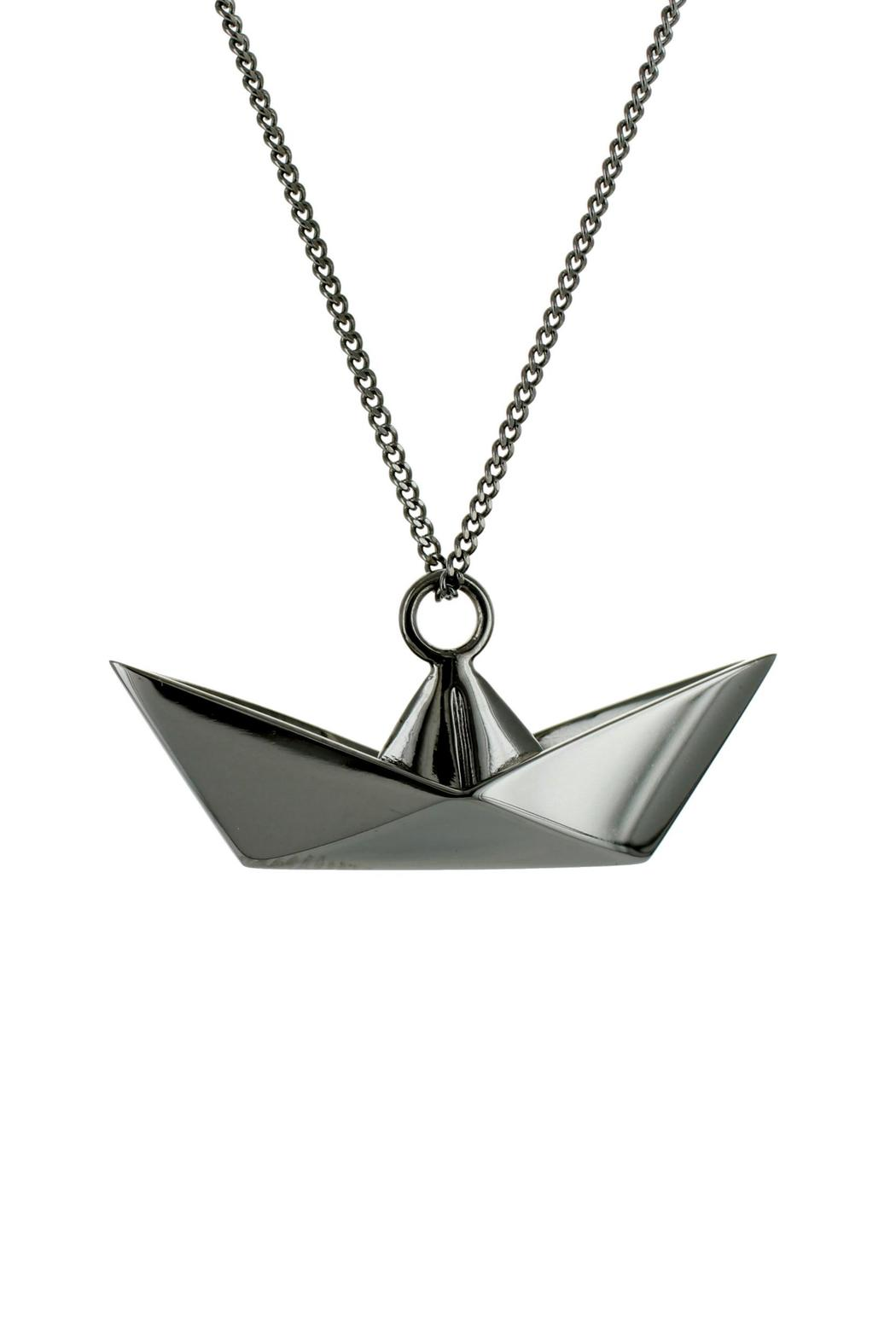 origami jewellery necklace boat silver from by