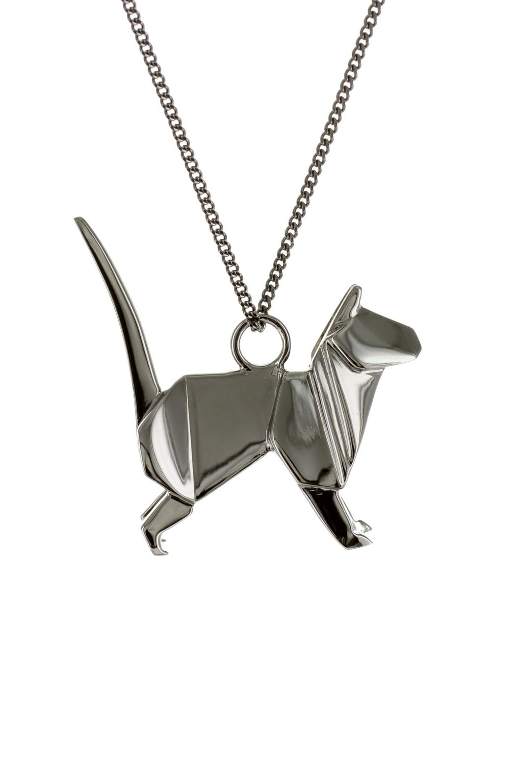 Origami Jewellery Necklace Cat Silver from Paris by ... - photo#21