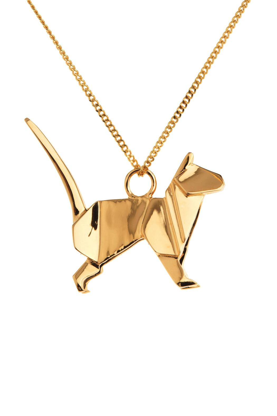 Origami Jewellery Necklace Cat Silver from Paris by ... - photo#5