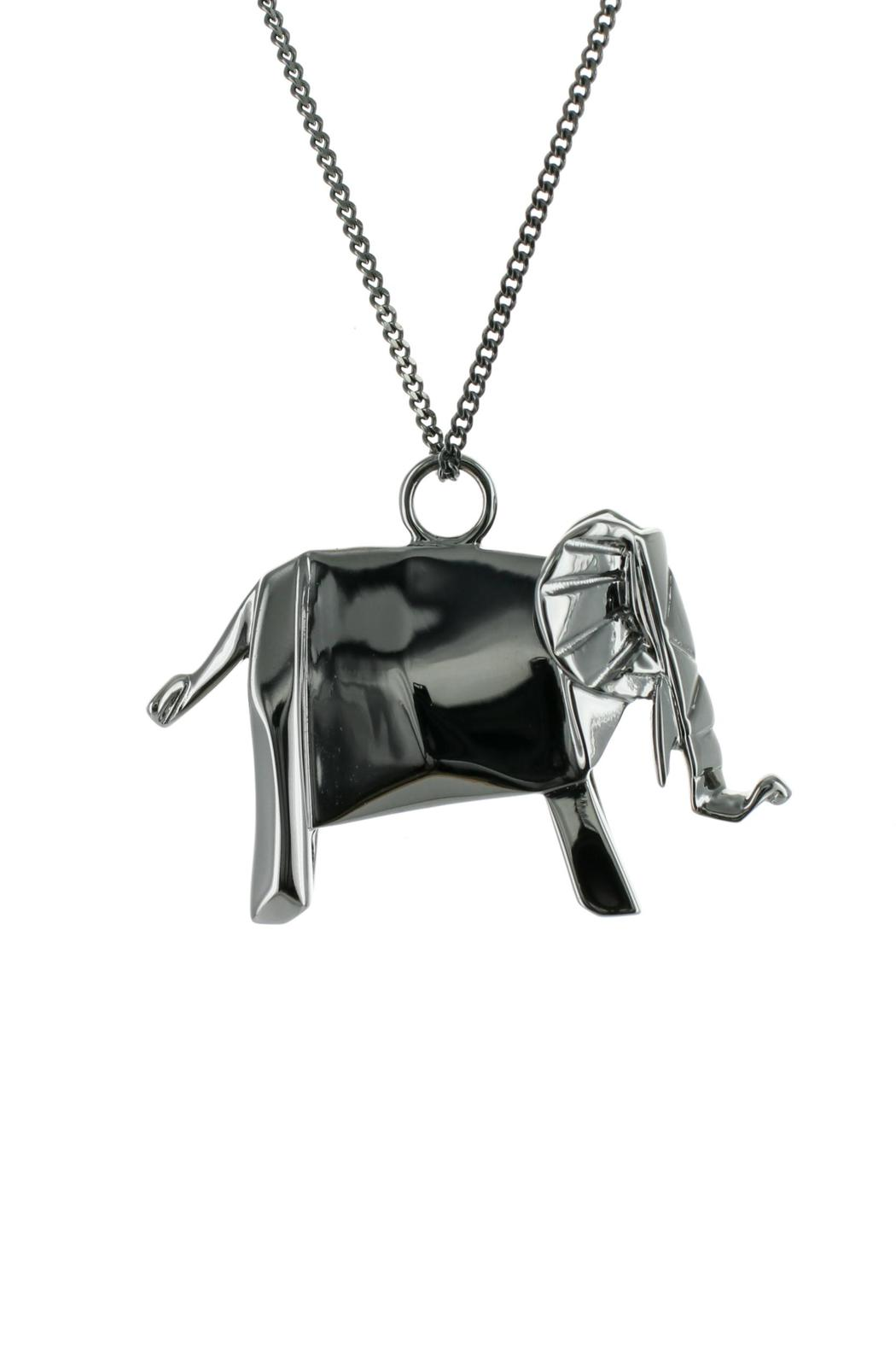 Origami Jewellery Necklace Elephant Silver from Paris by ... - photo#28