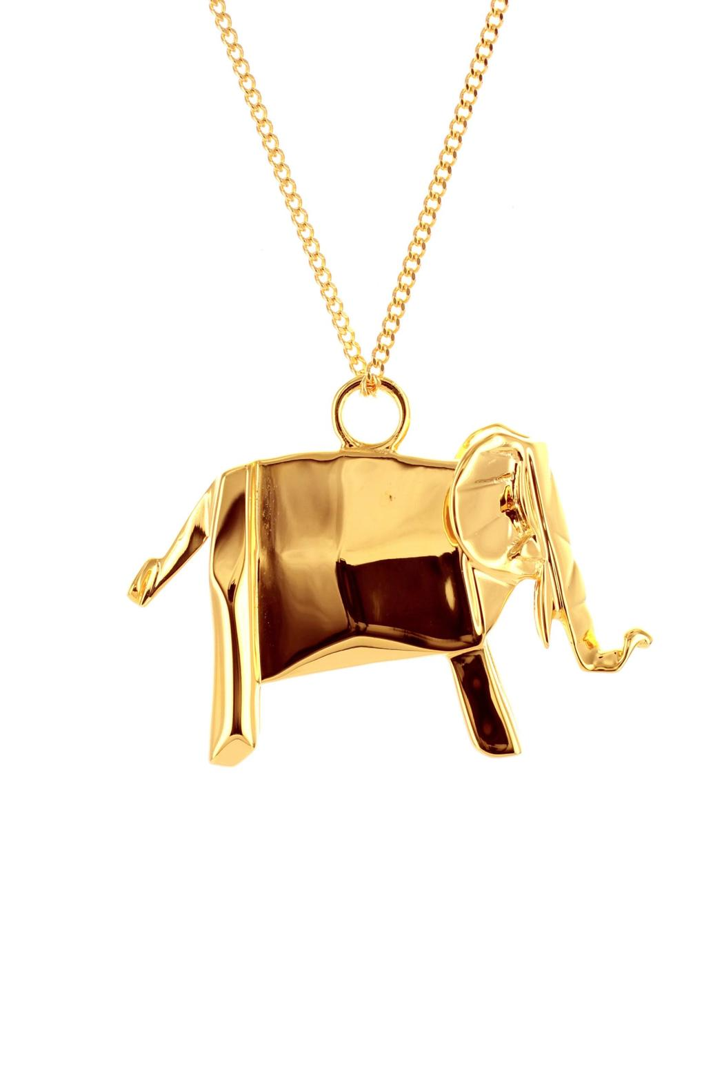 Origami Jewellery Necklace Elephant Silver from Paris by ... - photo#42