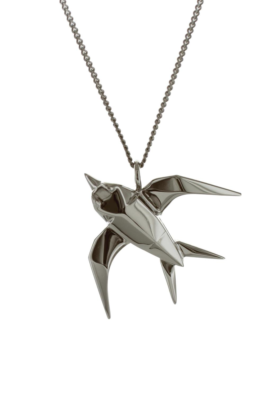 Origami Jewellery Necklace Swallow Silver from Paris by ... - photo#32