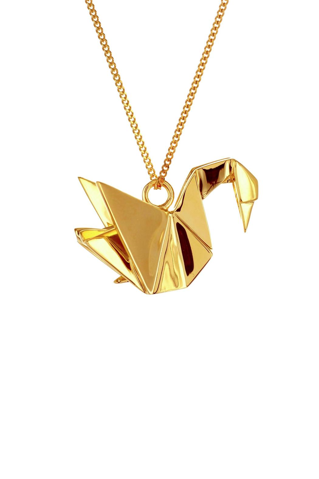 Origami Jewellery Necklace Swan Silver from Paris by ... - photo#40