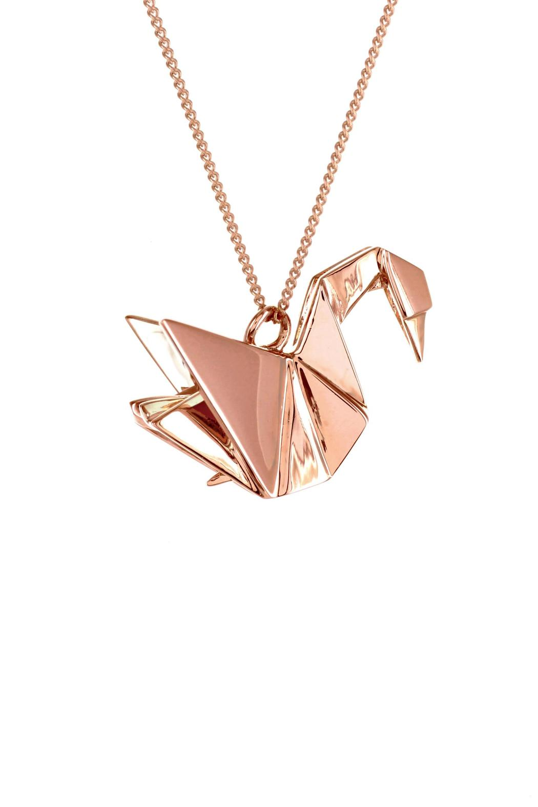 Origami Jewellery Necklace Swan Silver from Paris by ... - photo#37