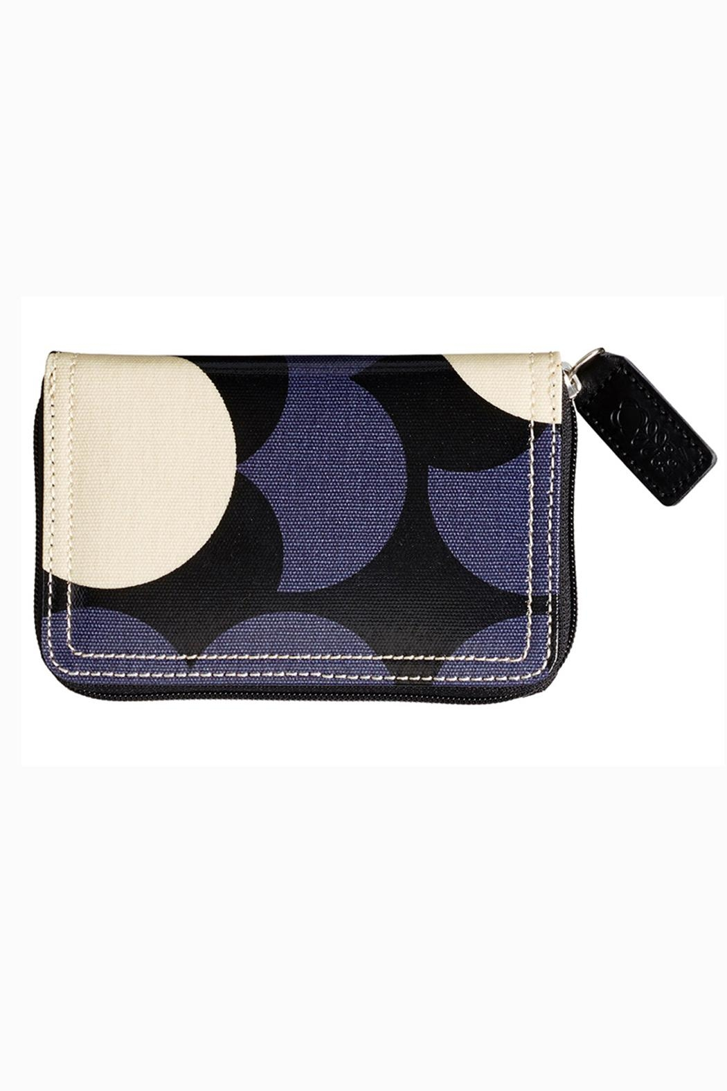 Orla Kiely Flower Medium Zip Wallet - Front Cropped Image