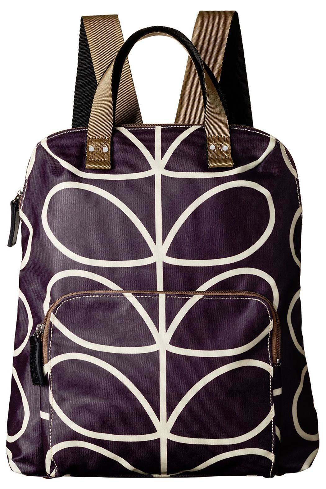Orla Kiely Orchid Backpack - Front Cropped Image