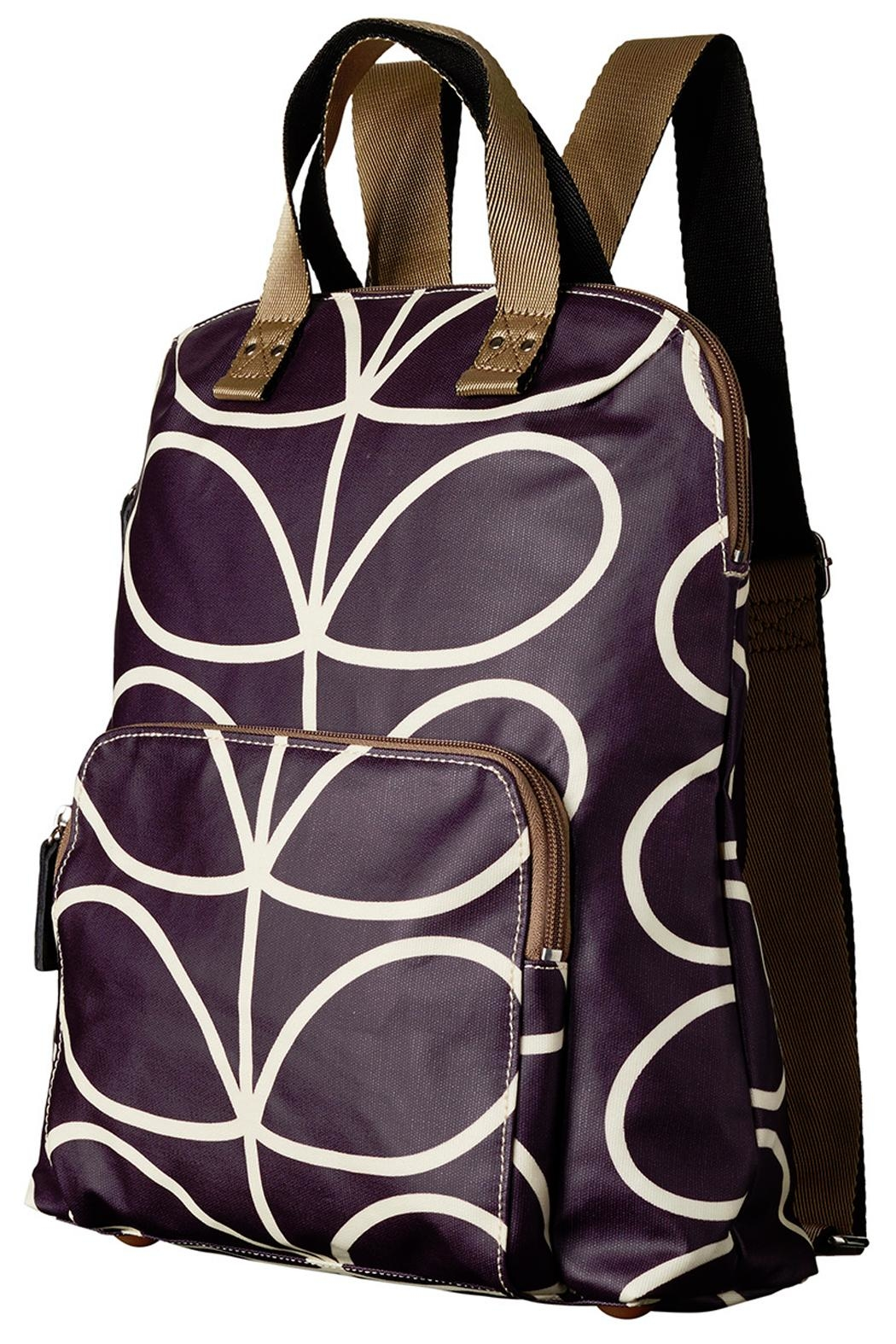 Orla Kiely Orchid Backpack - Front Full Image