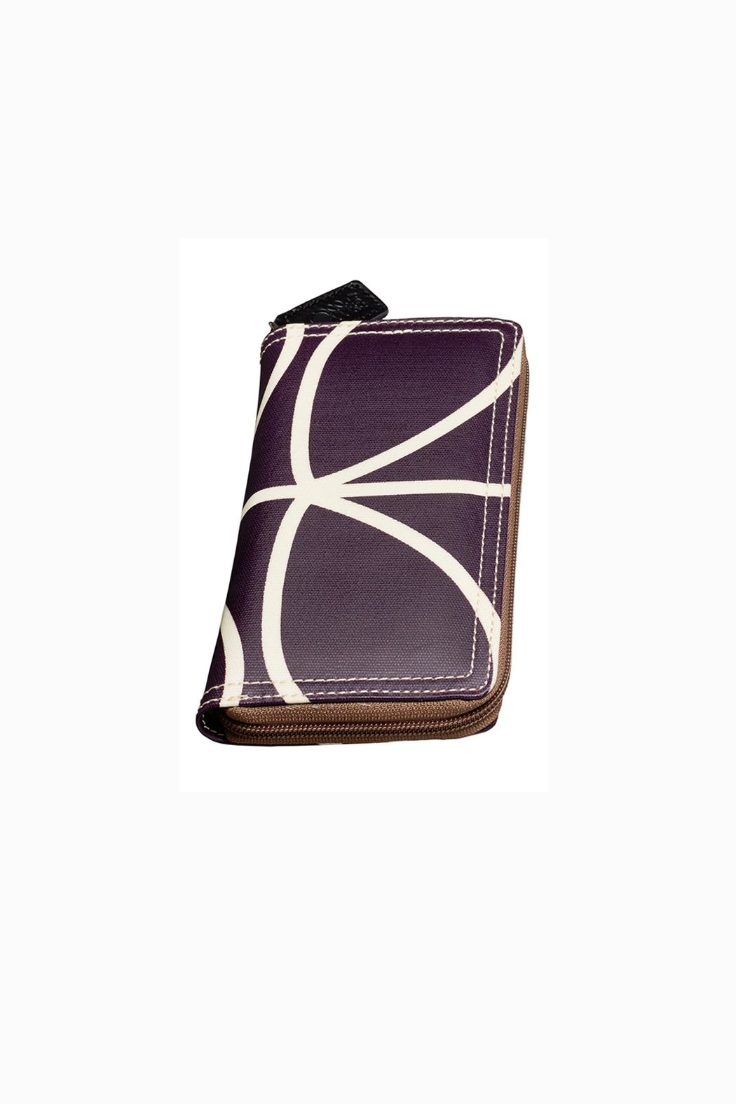 Orla Kiely Orchid Big Zip Wallet - Back Cropped Image