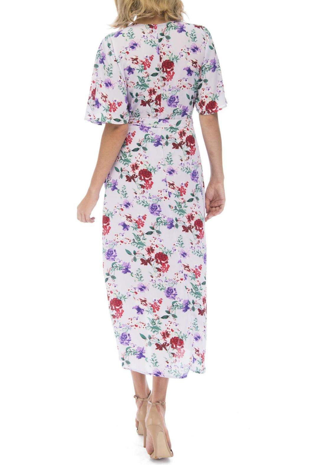 Bobeau Orna Floral Wrap-Dress - Front Full Image