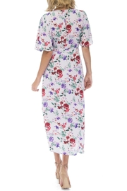 Bobeau Orna Floral Wrap-Dress - Front full body