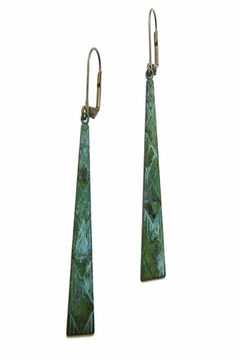 Shoptiques Product: Verdigris Isosceles Earrings