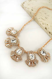 LA3accessories Ornate Statement Necklace - Front cropped