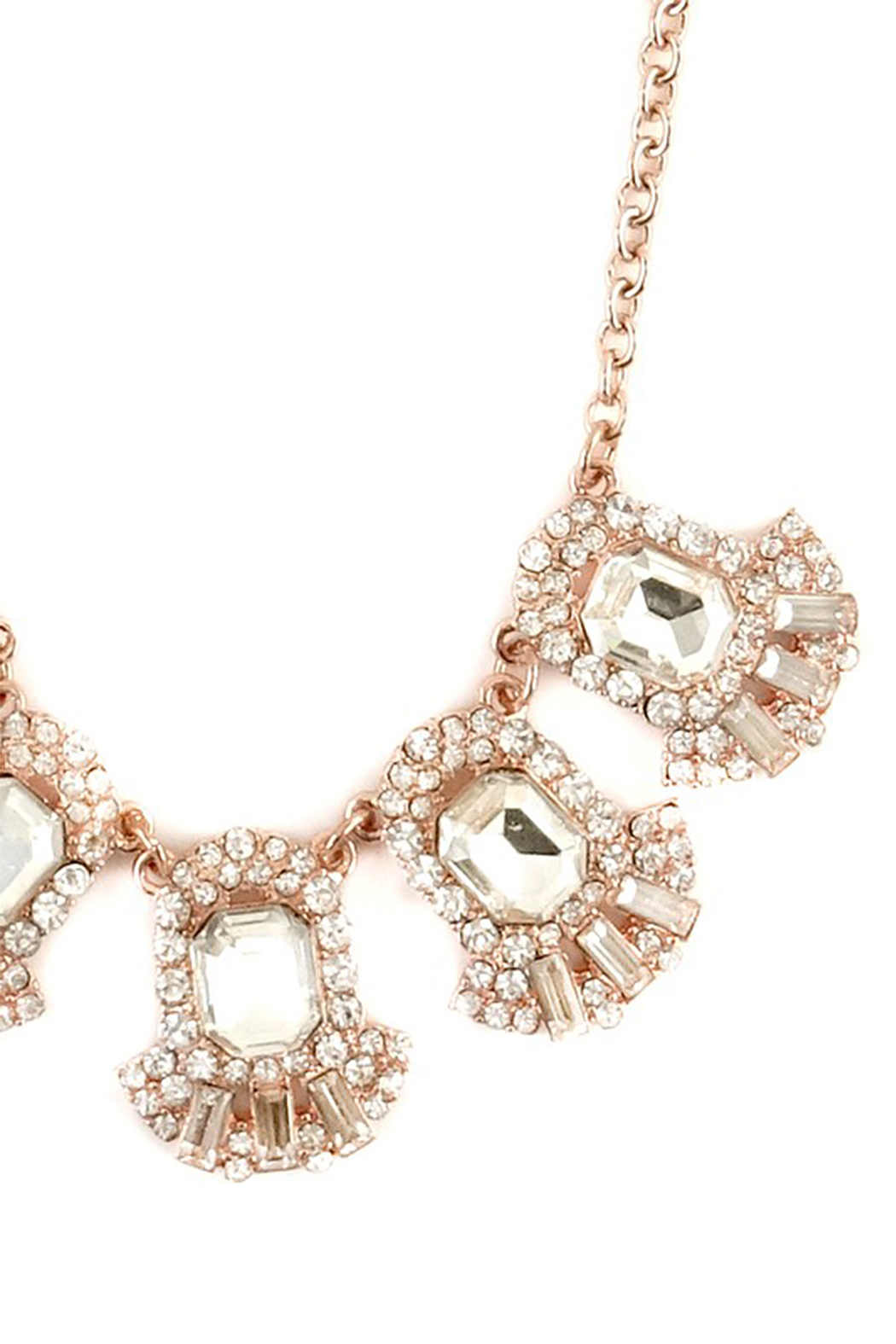LA3accessories Ornate Statement Necklace - Back Cropped Image