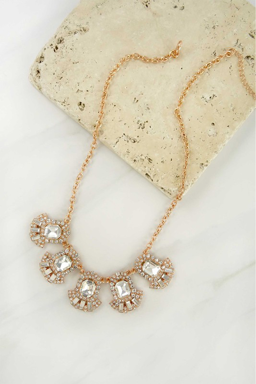 LA3accessories Ornate Statement Necklace - Front Full Image