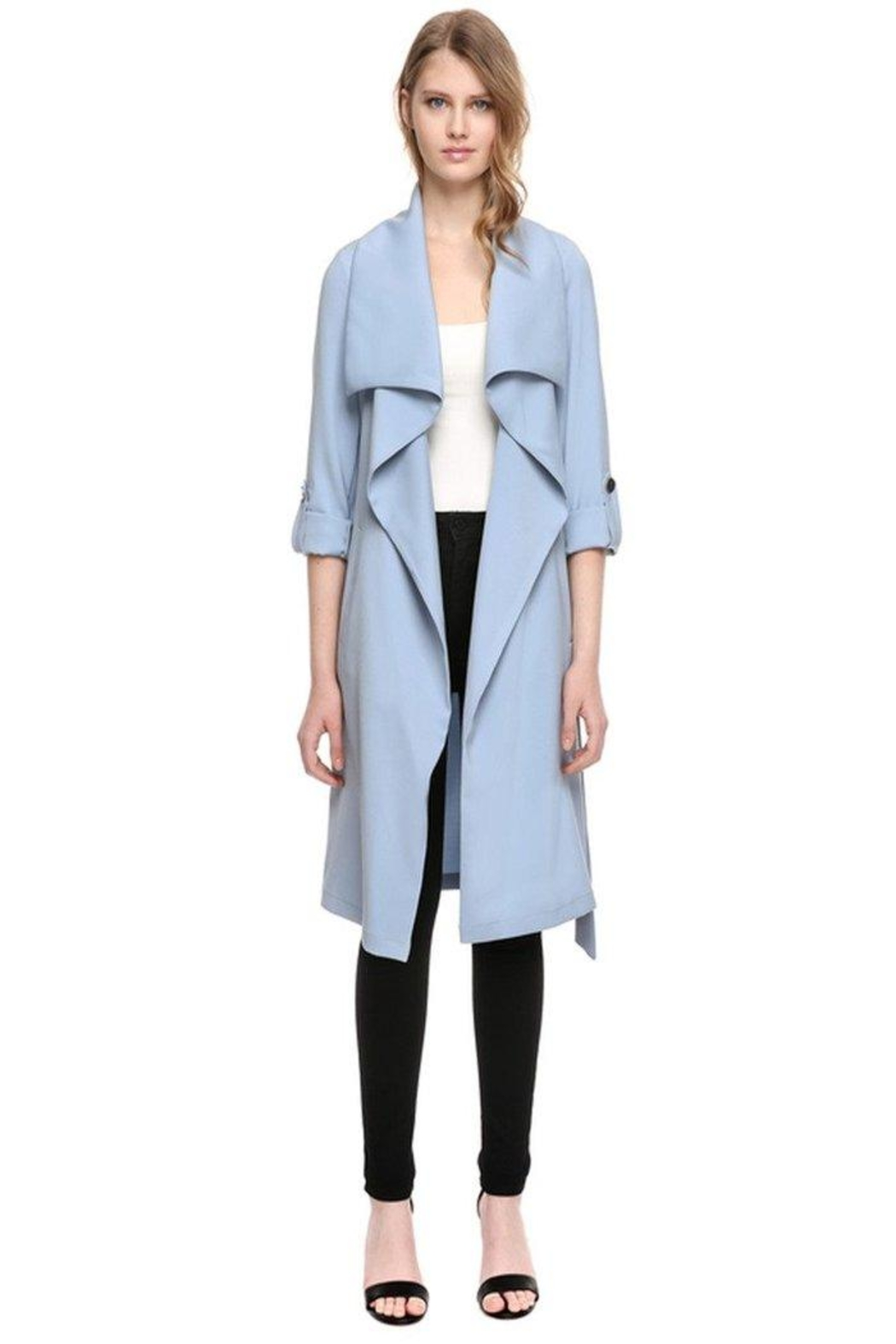Soia & Kyo Ornella Draped Coat - Front Cropped Image