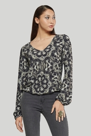 Viereck Orville elastic waist V Neck Top - Product Mini Image