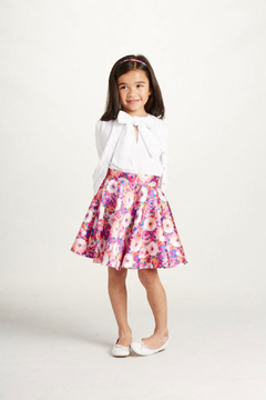 Oscar de la Renta Floral Circle Skirt - Product List Image
