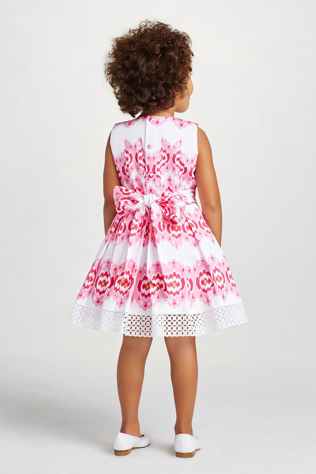 Oscar de la Renta Floral Print Party Dress - Back Cropped Image