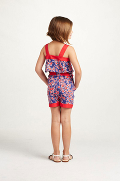 Oscar de la Renta Floral Romper With Bow - Alternate List Image