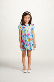 Oscar de la Renta Floral Short Sleeve Dress - Product Mini Image
