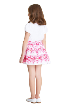 Oscar de la Renta Printed Tiered Skirt - Alternate List Image