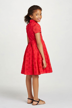 Oscar de la Renta Short Sleeve Shirt Dress - Alternate List Image