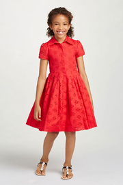 Oscar de la Renta Short Sleeve Shirt Dress - Product Mini Image