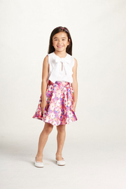 Sleeveless Blouse With Bow