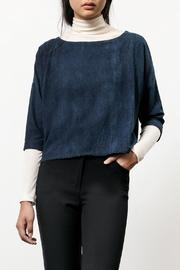 Osei-Duro Indigo Silk Box Top - Front cropped