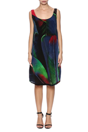 Osklen Silk Feather Dress - Front cropped