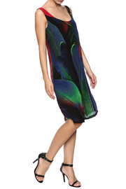 Osklen Silk Feather Dress - Front full body