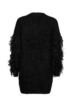 Moon Ostrich Feather Cardigan - Alternate List Image