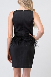 Minuet Ostrich Feather Waist Dress - Front full body